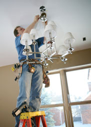 Fixing a light fitting